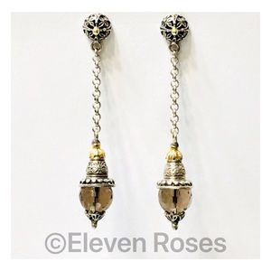 Konstantino Sterling & 18k Chain Drop Earrings
